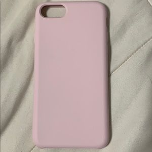Pink Silicon iPhone 8 Case